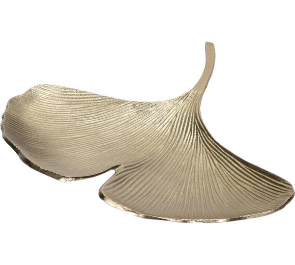 Μπολ σχ.φύλλο Gingko, αλουμίνιο χρυσό,37cm