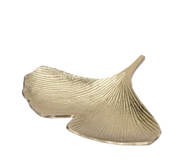 Μπολ σχ.φύλλο Gingko, αλουμίνιο χρυσό,23cm