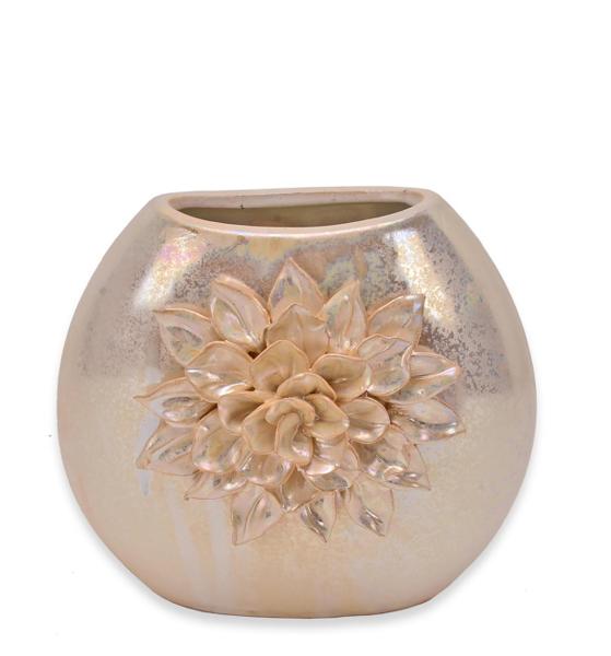 Κεραμικό βάζο με  λουλούδι περλέ χρ.