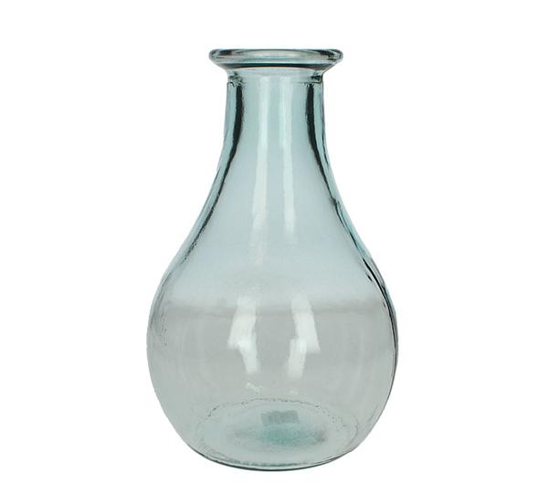 Βάζο ανακυκλωμένο γυαλί, διάφανο,31cm