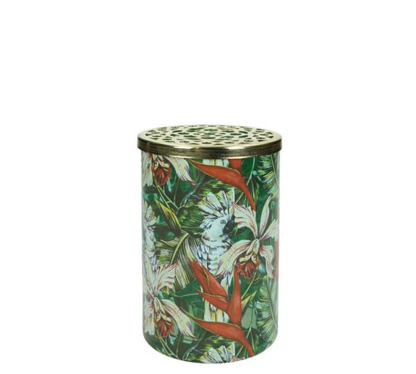 """Γυάλινο βάζο με """"Jungle print"""", 15cm"""
