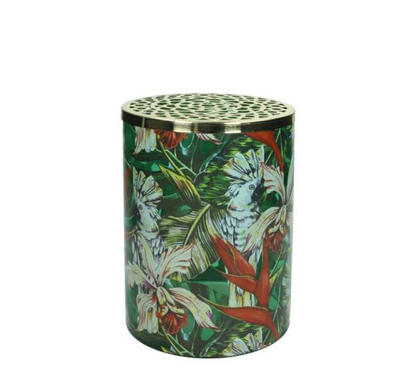 """Γυάλινο βάζο με """"Jungle print"""", 20cm"""