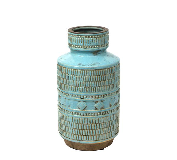Κεραμικό βάζο indigo τυρκουάζ σχ.,32,5cm