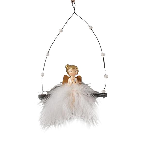 12/144-18cm resin angel ornament