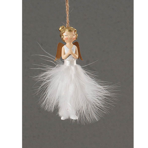 24/288-14cm resin angel decoration
