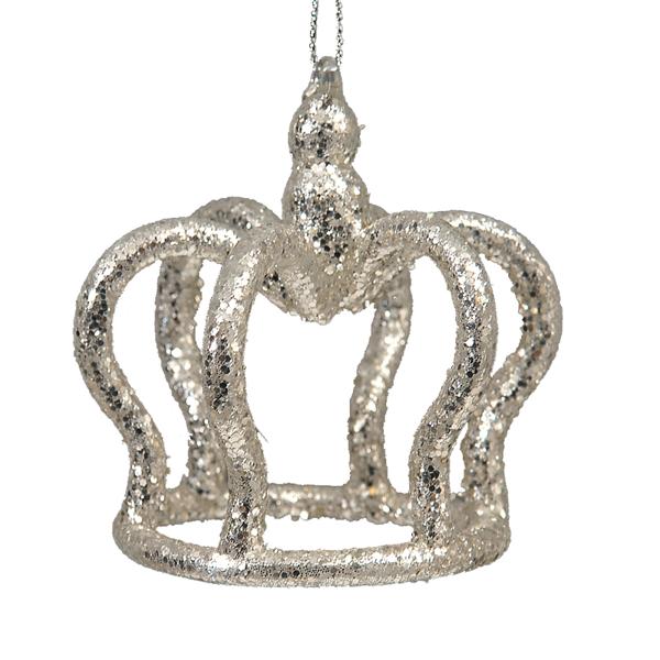 12/144-7,5cm Gold crown ornament