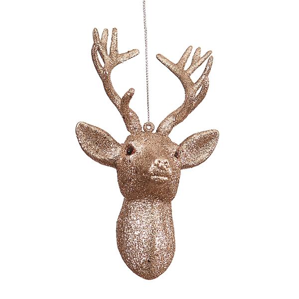 12/96-19cm glitter deer head 24-96