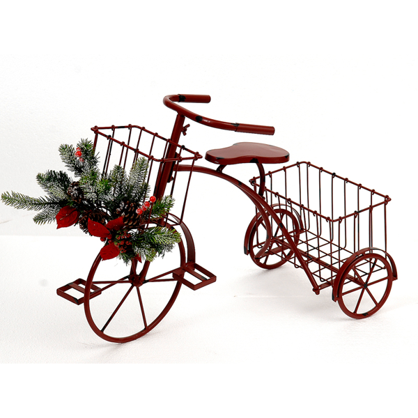 2/2 62cm red bicycle planter
