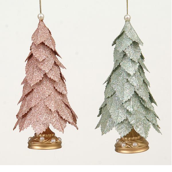 12/144-2Asst 15cm plastic tree ornament