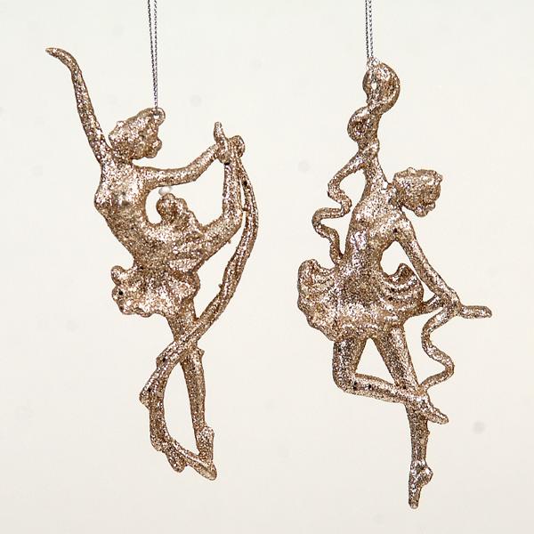 24/432-16cm plastic gold angel ornament