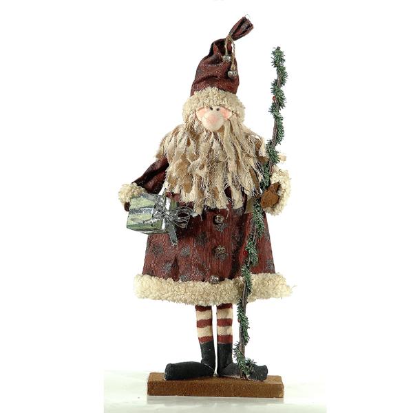 Santa w/tree 55cm