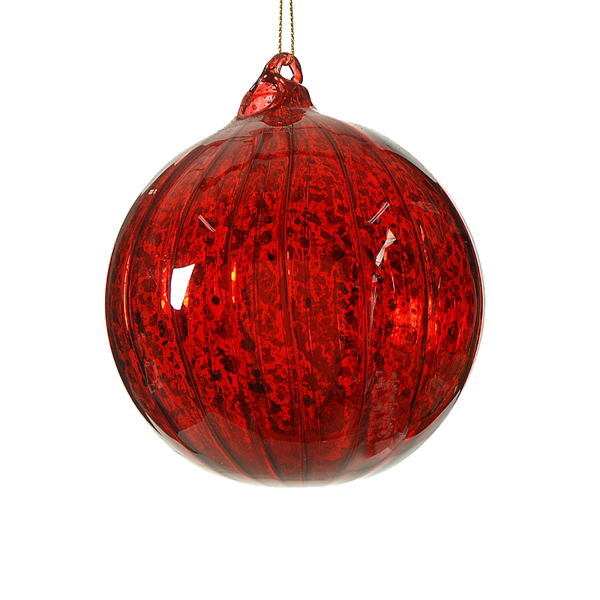 Red glass ball 10cm