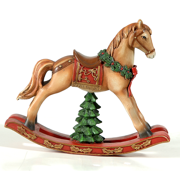 Resin rocking horse 23*16.5*19cm 1-8