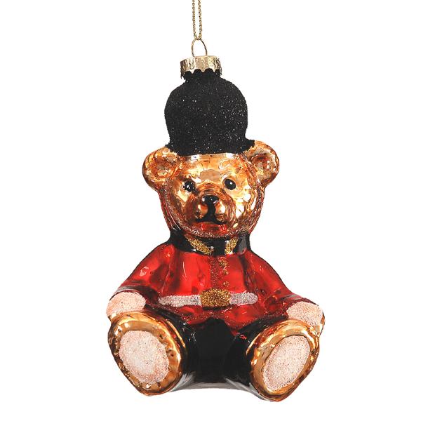 6/72 - 13cm Gold Sitting Bear Orn