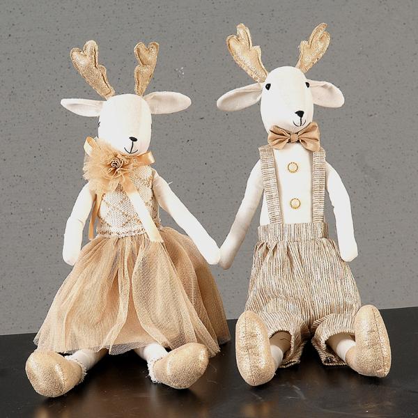 6/24-58,5cm 2Asst boy-girl reindeer