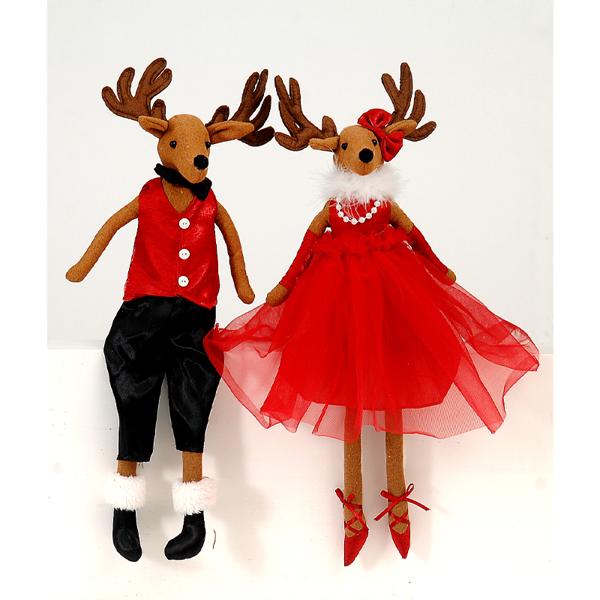 6/12-45cm Reindeer couple