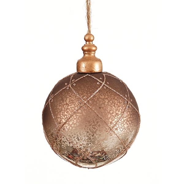 12/36 - 10cm Silver Glittered Ball 6-36