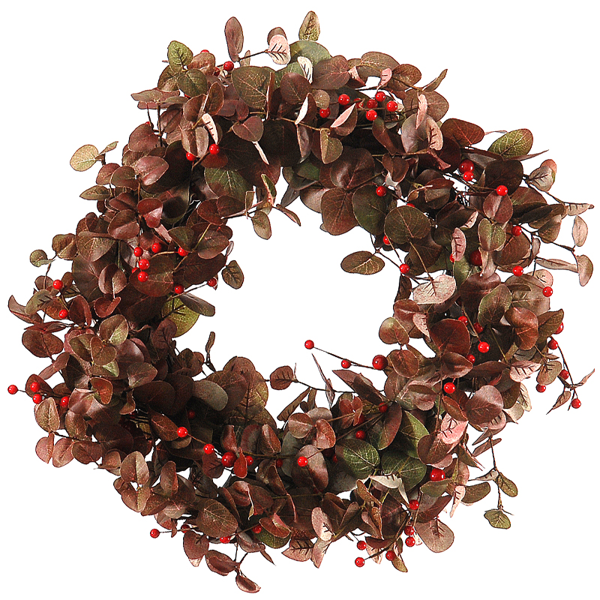 2/8 - 66 cm Green/Red Wreath