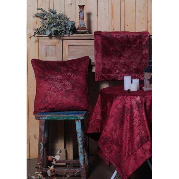 PLS-TB1084 45X160 RUNNER Velvet-Leather RED WINE