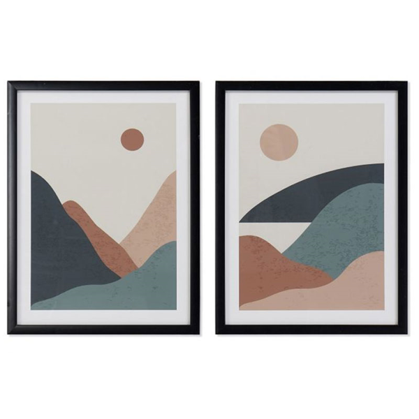 PICTURE PVC MDF 30X3X40 MOUNTAINS FRAMED 2 MOD.