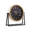 TABLE CLOCK IRON GLASS 25X7X25 BLACK