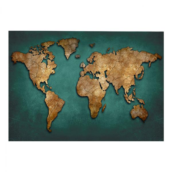HM7197.01 ΠΙΝΑΚΑΣ ΚΑΜΒΑΣ WORLD MAP 100Χ3Χ70