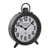 ITRE-180000 TABLE CLOCK IRON 18.5X5.5X26 DARK GRAY
